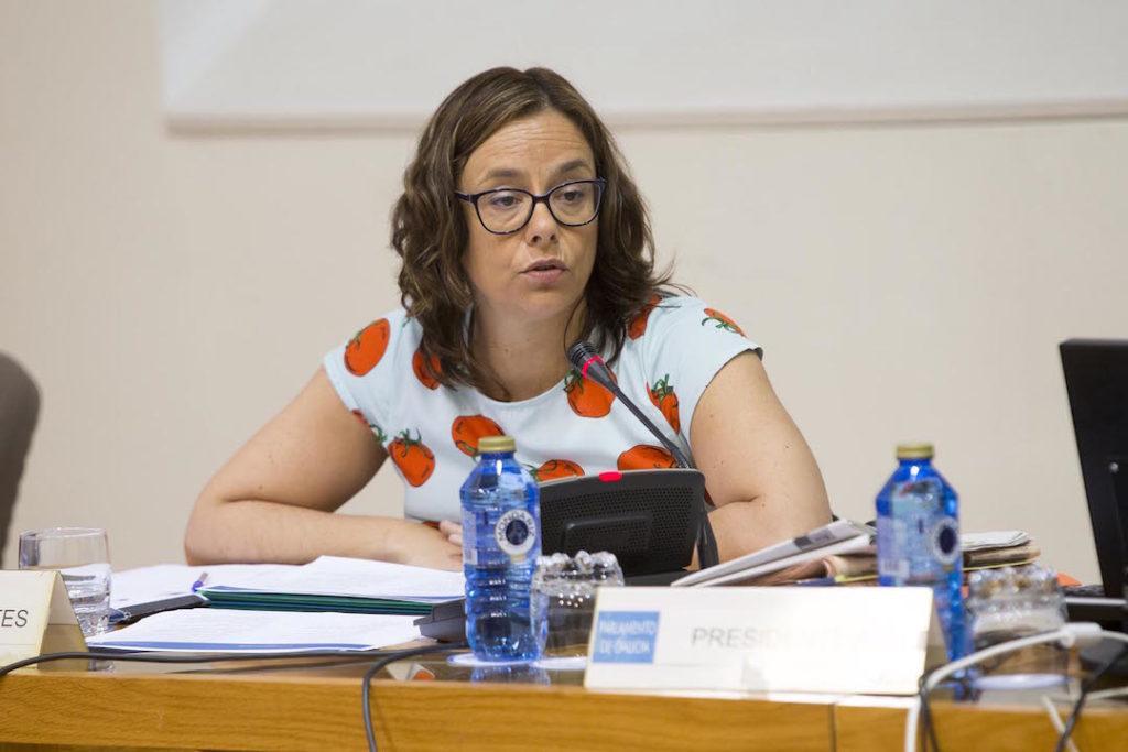 María Victoria González, directora de la Axencia Tributaria de Galicia, en su comparecencia.