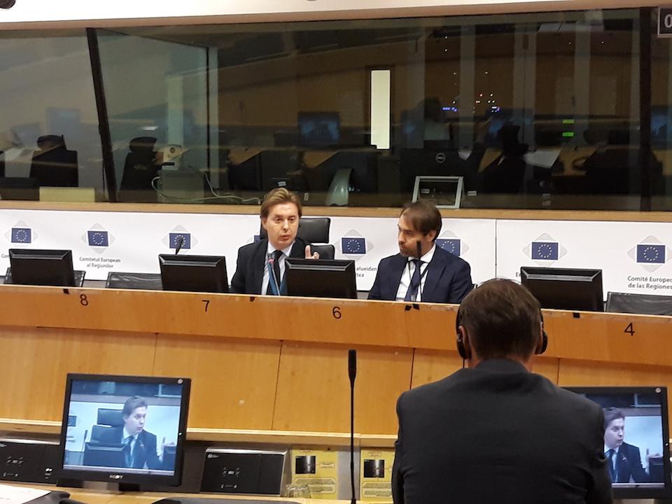 Intervención del director xeral de Relacións Exteriores e coa UE, Jesús Gamallo, ante el Comité de las Regiones.