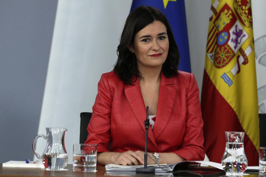 La titular de Sanidad, Carmen Montón, en la rueda de prensa tras el Consejo de Ministros.