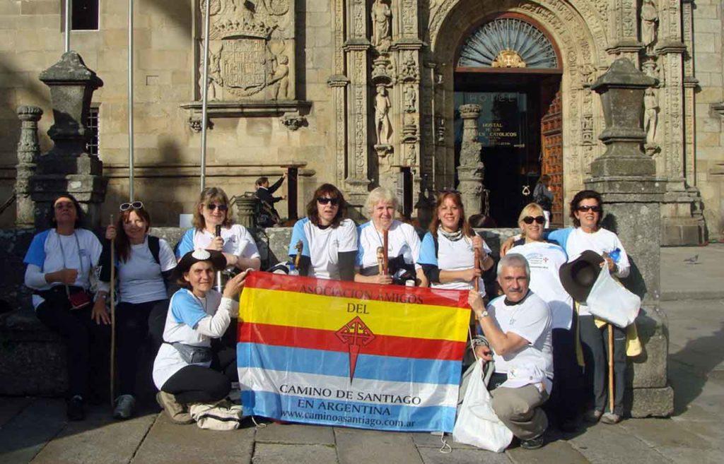 Integrantes de la Asociación en uno de sus viajes a Galicia.