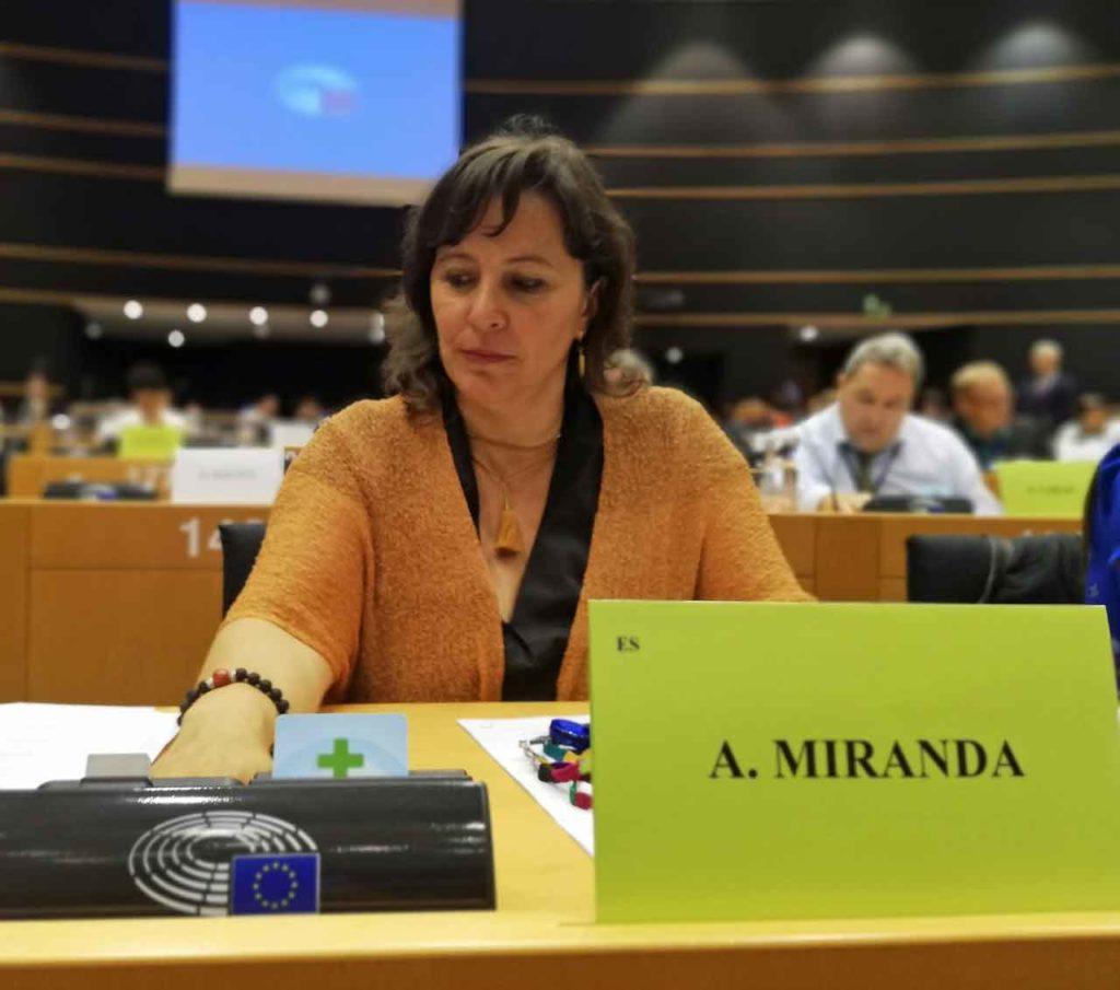 La eurodiputada del BNG, Ana Miranda.