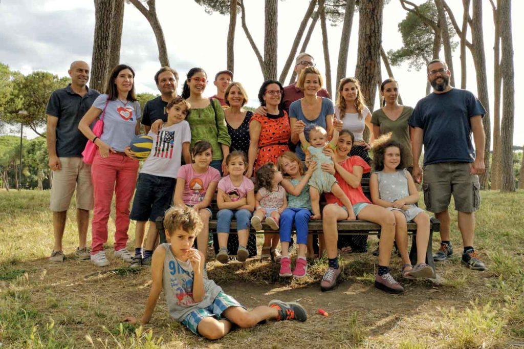 Fotos de las familias que acudieron al encuentro.