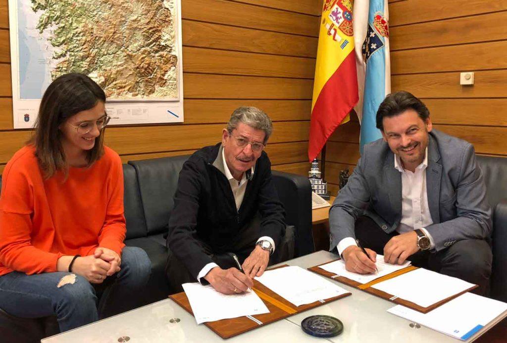 Clara Tubio, Celso Domínguez Búa y Antonio Rodríguez Miranda.