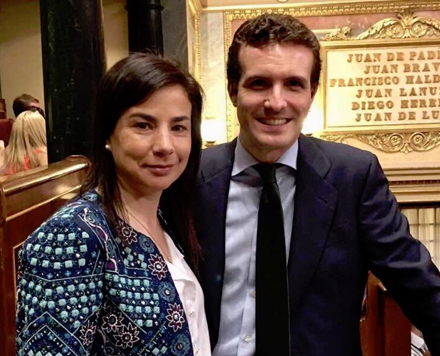 Ana Belén Vázquez y Pablo Casado.