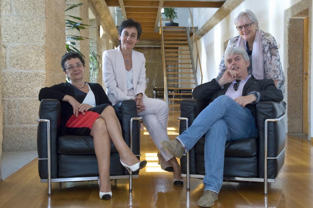 La nueva Comisión Ejecutiva del Consello da Cultura Galega: Rosario Álvarez, Dolores Vilavedra, Xosé Manoel Núñez Seixas y María Xosé Porteiro.