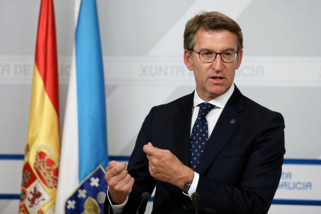 El presidente del Gobierno gallego, Alberto Núñez Feijóo informó en rueda de prensa de los asuntos tratados en la reunión del Consello de la Xunta.