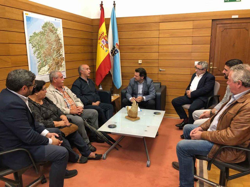 Imagen de la reunión celebrada en la sede de la Secretaría Xeral da Emigración en Santiago de Compostela.