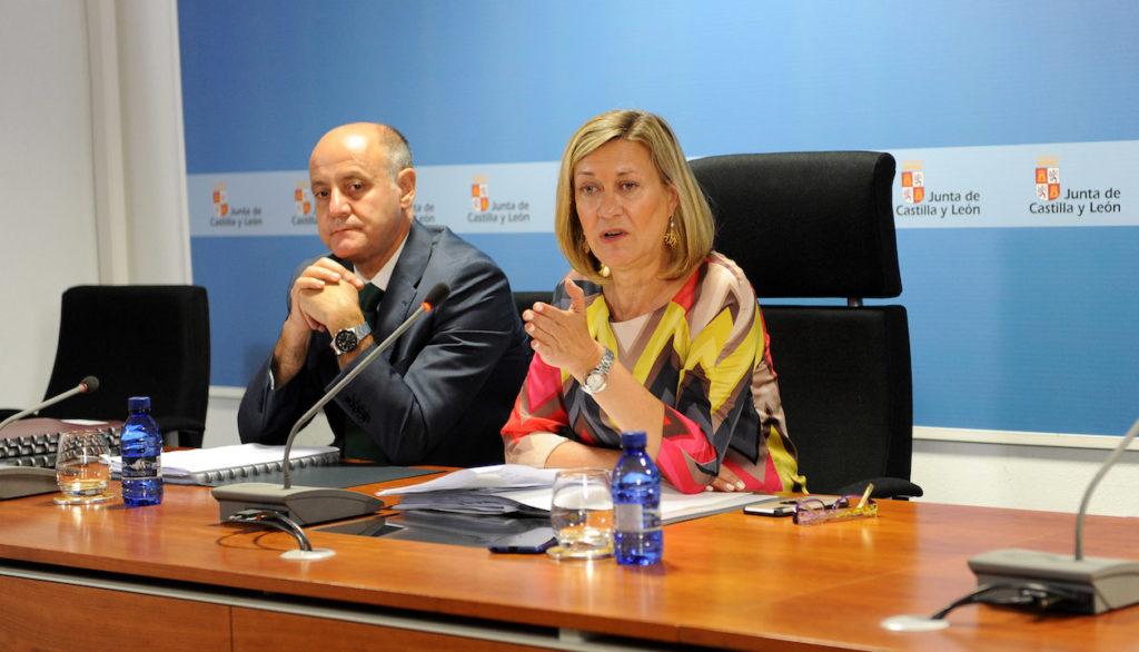 La consejera de Economía y Hacienda, Pilar del Olmo, explicó los datos del PIB.