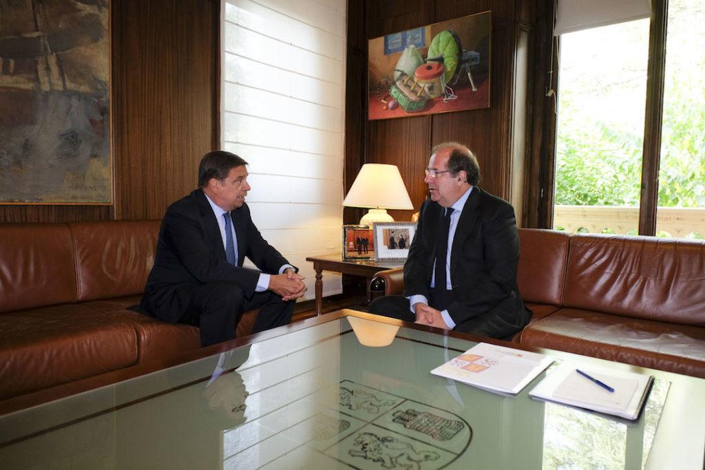 El presidente de la Junta de Castilla y León, Juan Vicente Herrera, se reunió el pasado 4 de septiembre con el ministro de Agricultura, Pesca y Alimentación, Luis Planas.