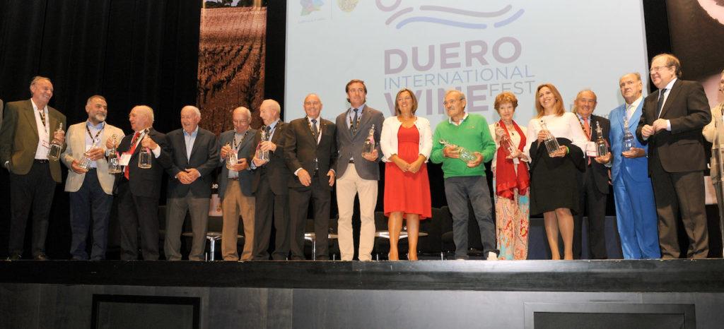 Herrera participó en el homenaje a los pioneros del vino en la primera edición del Congreso 'Duero Internacional Wine Fest'.