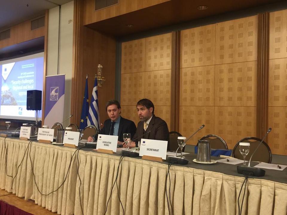 El director xeral de Relacións Exteriores e coa UE, Jesús Gamallo, participó en la 20ª reunión de la Comisión CIVEX celebrada en Atenas junto a Dimitris Avramopoulos, comisario europeo de Migración.