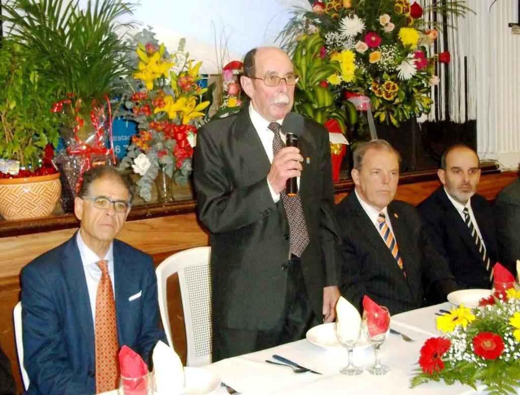 Intervención del presidente de la entidad, José María Pérez Pérez.