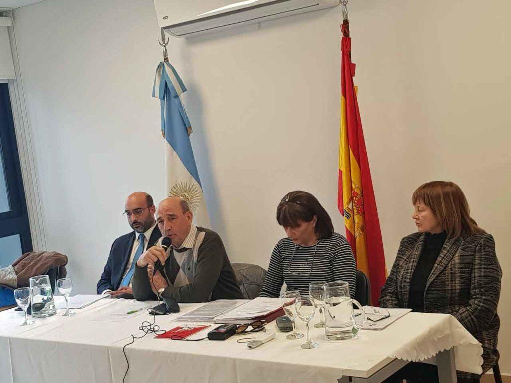 Intervención de José Manuel Martínez Otero durante la reunión.