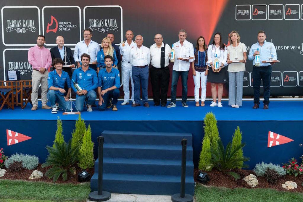 Foto de familia de los Premios Nacionales de Vela Terras Gauda 2018.