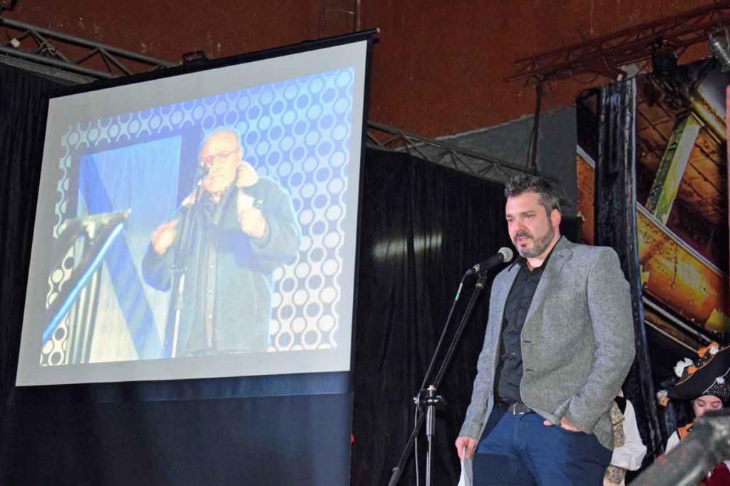 Diego Martínez Duro durante su intervención en el homenaje.