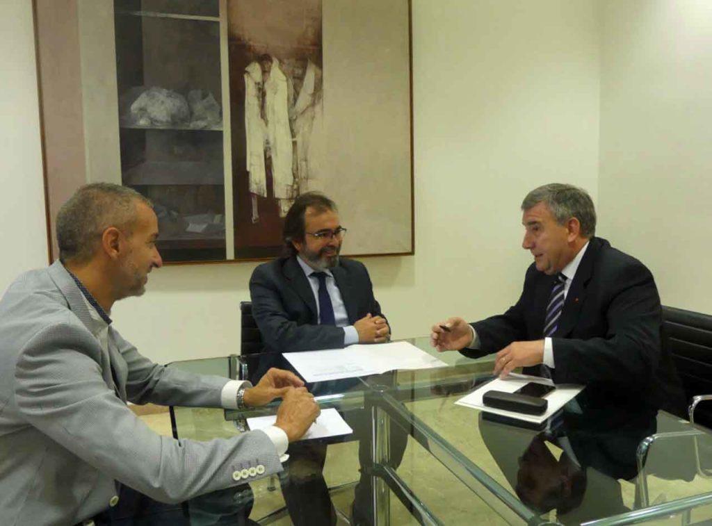 Por la derecha, Gustavo Yepes y Pedro Rivera.