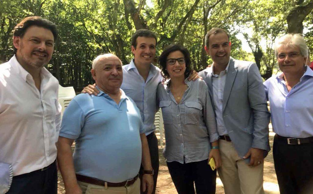 Antonio Rodríguez Miranda, Ramiro Vieito, Pablo Casado, Ana Vázquez, José A. Alejandro González y Jesús Ledo.