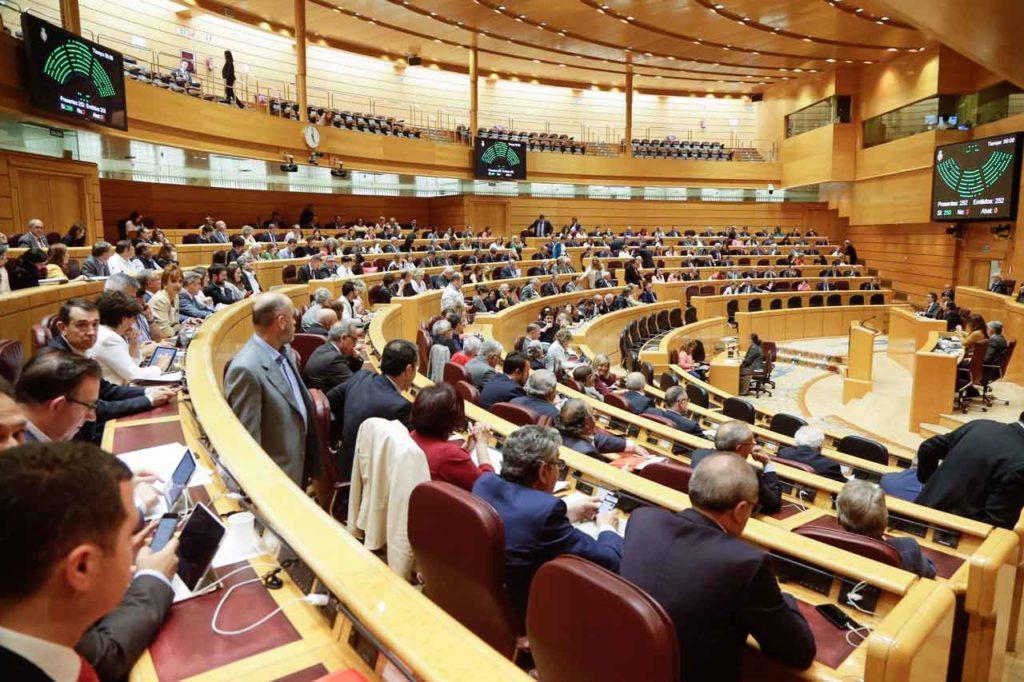 Pleno del Senado celebrado los días 25 y 26 de septiembre.