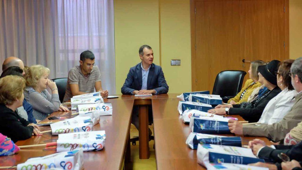 José Manuel Herrero con los participantes en el Programa 'Siente Castilla y León'