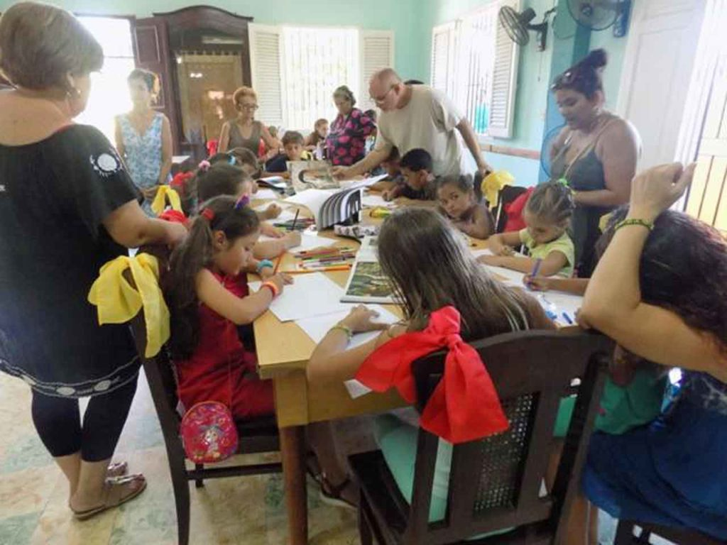 Niños que participaron en el concurso.