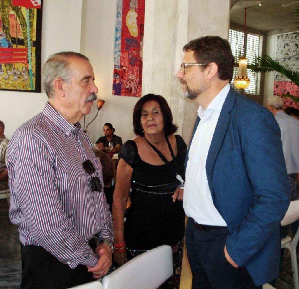 José Luis Bermúdez, Mª Antonia Rabanillo y Juan José Buitrago.