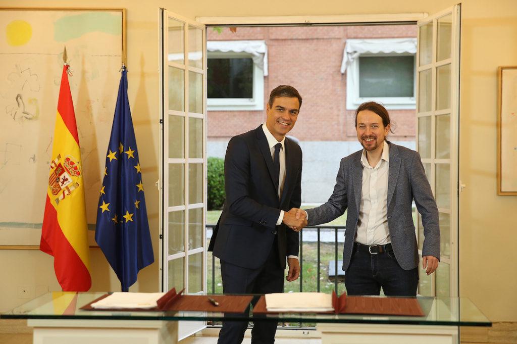 Pedro Sánchez y Pablo Iglesias firmaron un acuerdo sobre los Presupuestos.