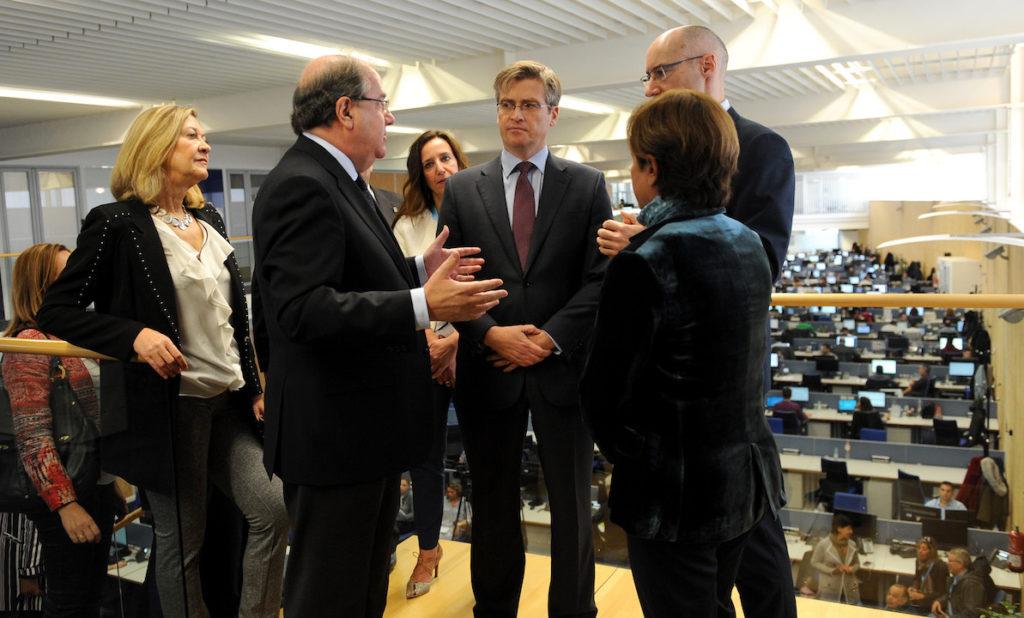 El presidente de la Junta, Juan Vicente Herrera, participó en el décimo aniversario de la empresa Viewnext, en Salamanca.
