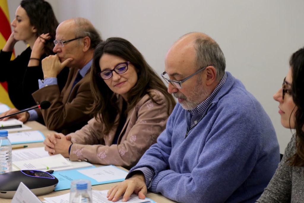 Sesión constitutiva en enero de 2017 del nuevo Consejo de Centros Valencianos en el Exterior a la que asisitió la vicepresidenta del Consello, Mónica Oltra.