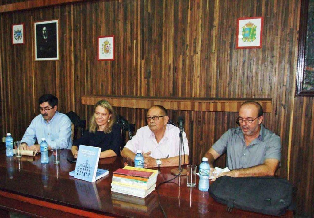 Santiago Gónzález Romero, Nuria Reigosa González, Longinos Valdés Álvarez y Aurelio Francos Lauredo.