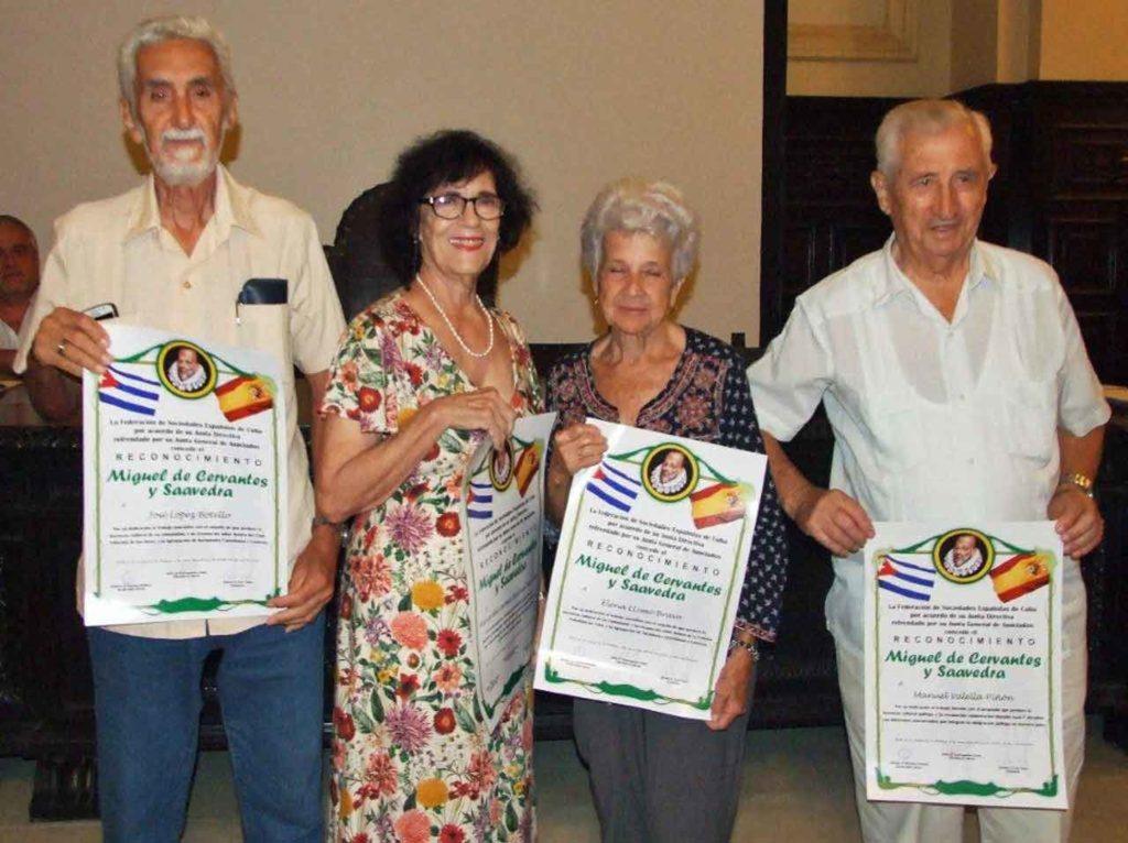 José López Botello; María del Carmen Barcia Zequeira; Elena Llimó Bravo y Manuel Valella.Piñón.