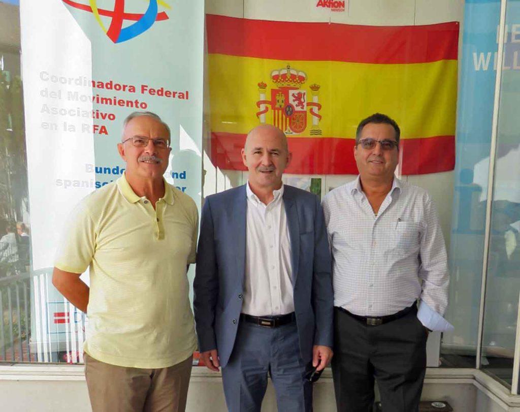 José Sánchez Otero, Antonio Espinosa y Severino Abeledo.