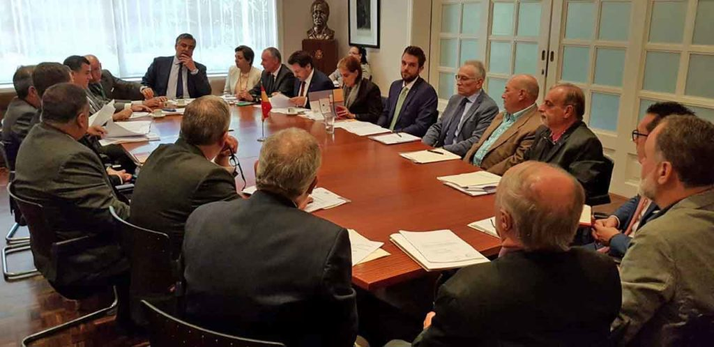 Reunión del Patronato de la Fundación España Salud que estuvo presidida por el embajador español, Jesús Silva.