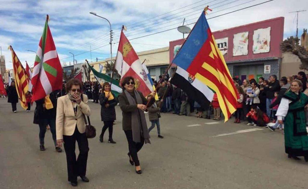 Representación española en el desfile.