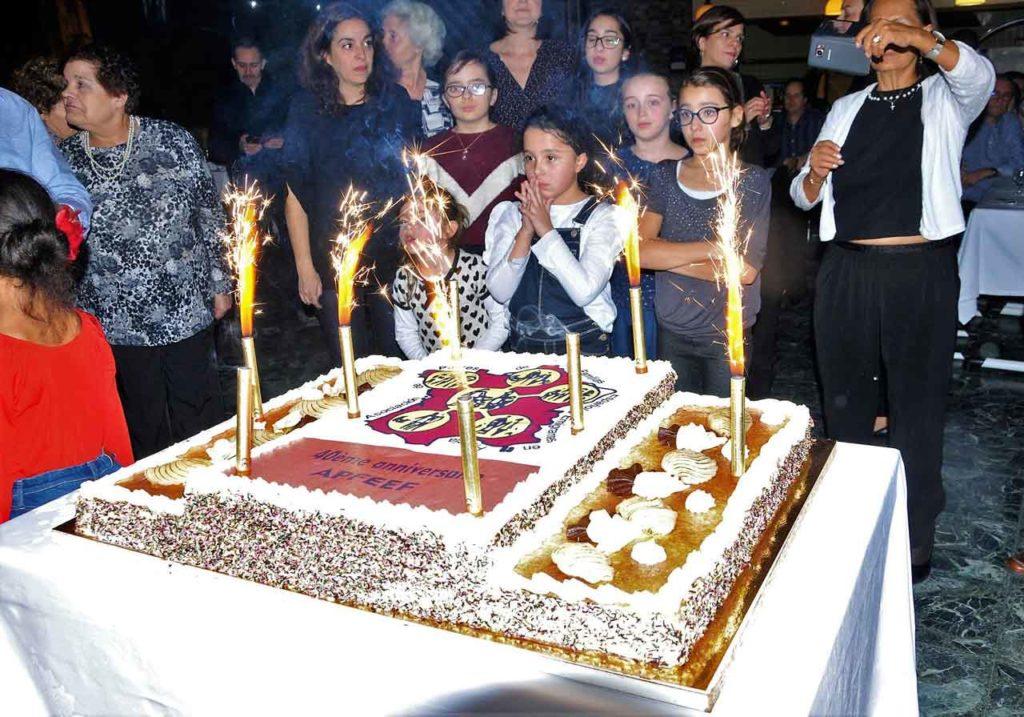 La tarta del 40 aniversario.
