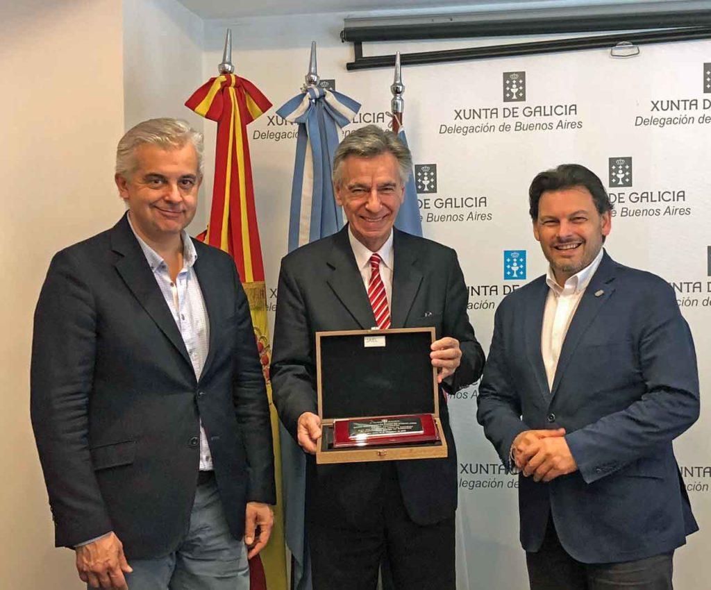 Alejandro López Dobarro, Luis Romero y Antonio Rodríguez Miranda.