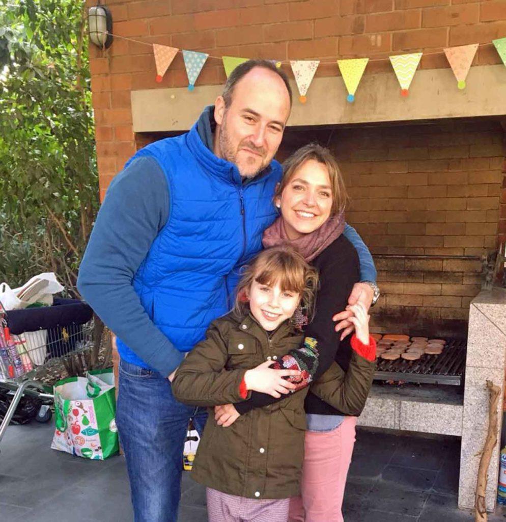 Pablo Arnuncio, Isabel Herranz y la pequeña Isabel.