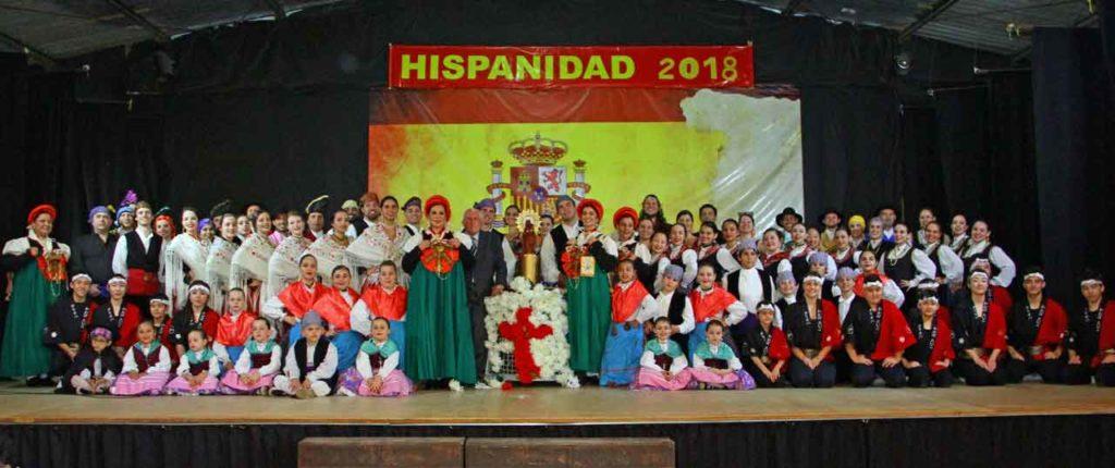 Los participantes en el espectáculo.