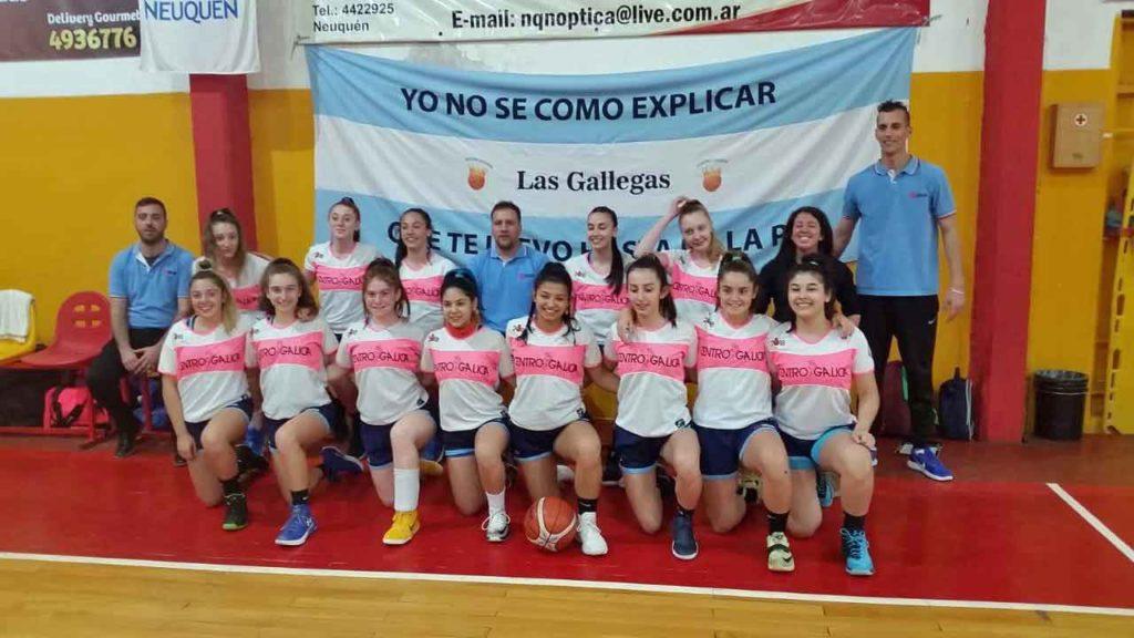 Equipos femenino de baloncesto del Centro Galicia de Buenos Aires.