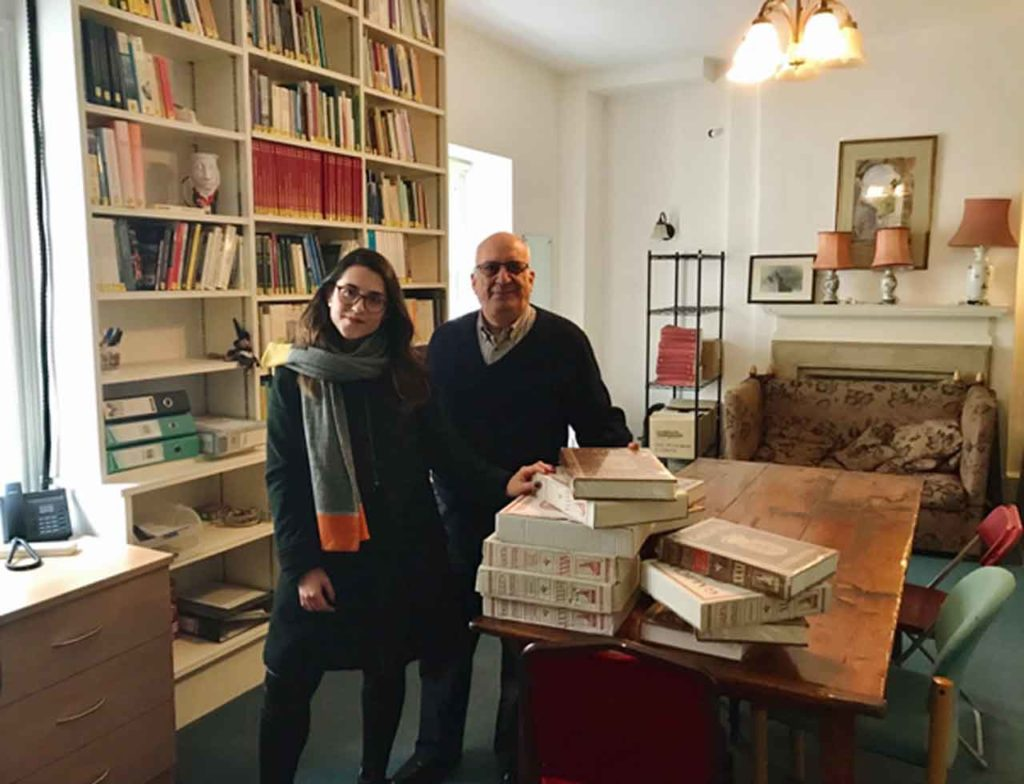 Alba Cid y Juan A. Hierro en el John Rutherford Centre for Galician Studies.