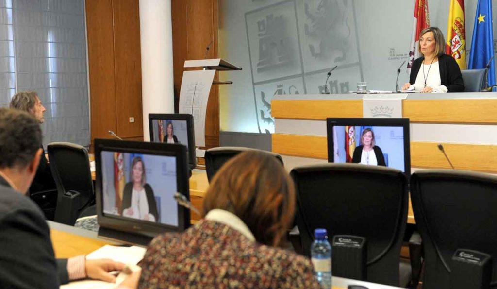 Rueda de prensa de la portavoz de la Junta de Castilla y León, Milagros Marcos Ortega, tras la reunión del Consejo de Gobierno del 29 de noviembre.