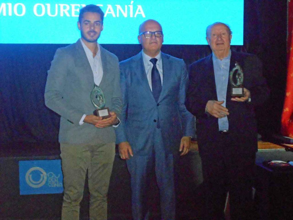 Baltar, en el centro, junto a Fernández Rivero y Nogueira.