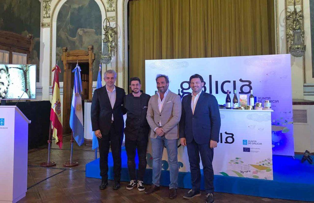 Alejandro López Dobarro, Jorge Gago, Horacio Pitrau y Antonio Rodríguez Miranda.