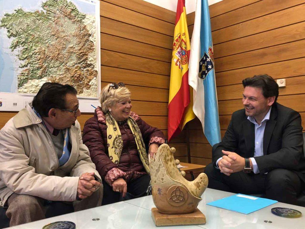 José Lago, Concepción Sauné y Antonio Rodríguez Miranda.