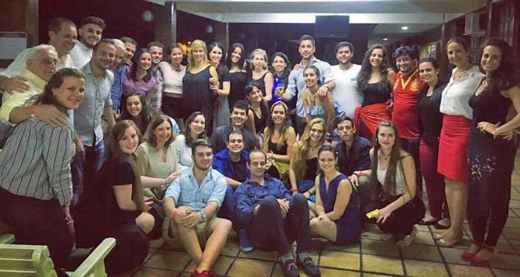 Los jóvenes que forman parte del conjunto 'Xuntos' en Río de Janeiro.