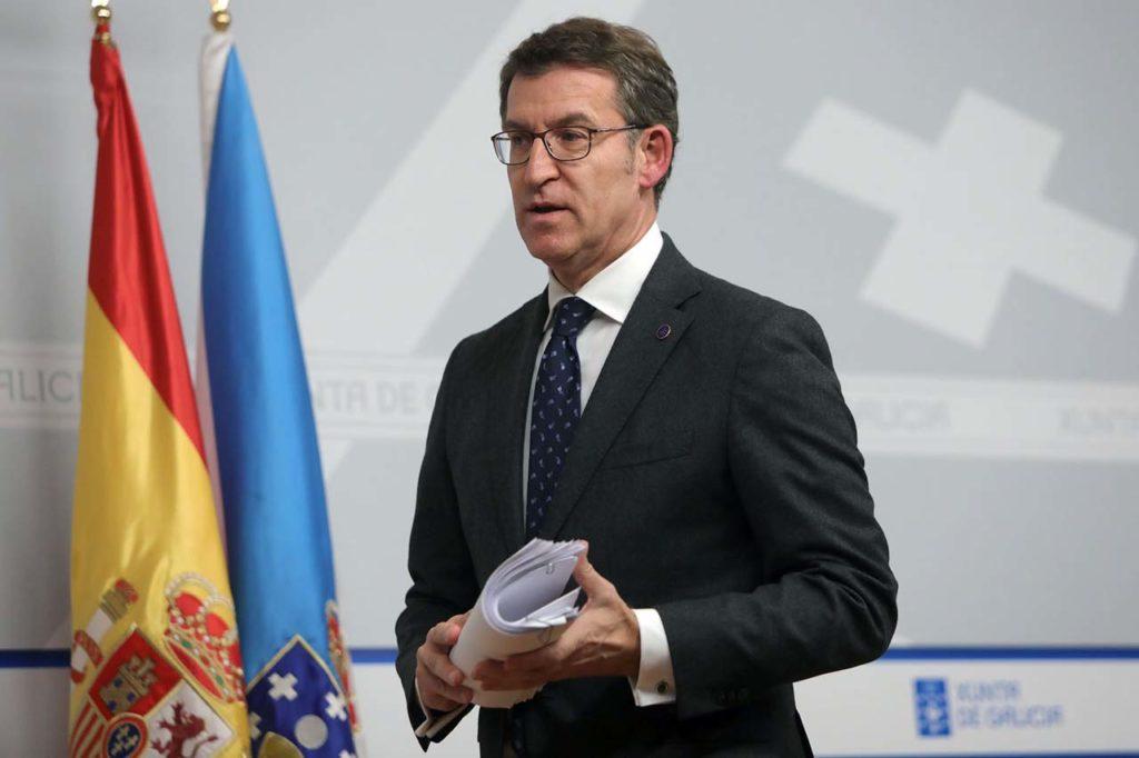 El presidente Alberto Núñez Feijóo al término del último Consello de la Xunta.