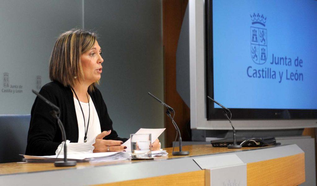 La portavoz de la Junta de Castilla y León, Milagros Marcos Ortega, compareció tras la reunión del Consejo de Gobierno para explicar este acuerdo.