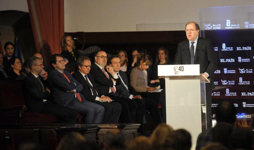 Intervención en el acto del presidente de la Junta de Castilla y León, Juan Vicente Herrera.