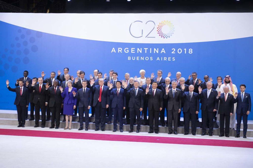 Pedro Sánchez con el resto de líderes mundiales asistentes a la Cumbre del G-20 en Buenos Aires.
