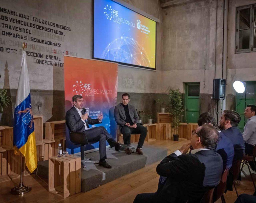 Intervención de Fernando Clavijo en el segundo encuentro de 'Reconectando Canarias'.