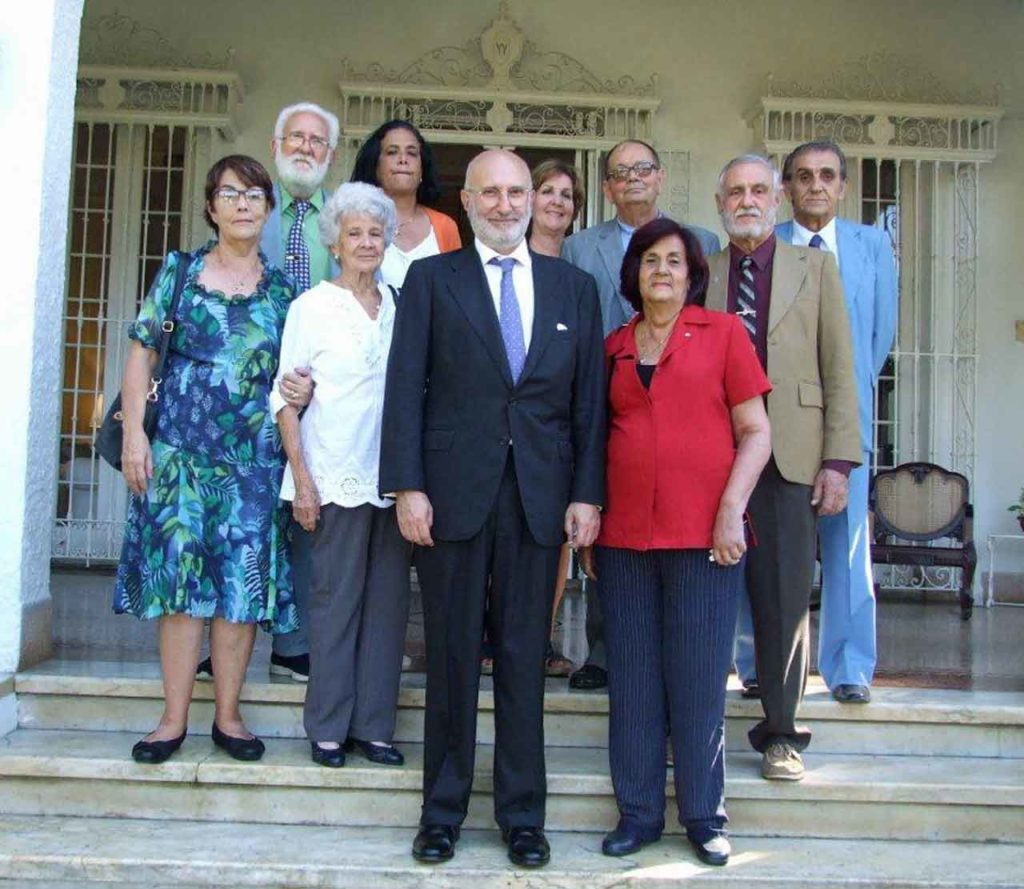 Con María Antonia Rabanillo y presidentes de sociedades de Castilla y León, Asturias y Galicia.